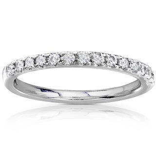 Annello by Kobelli 14k Gold 1/3ct TDW Round Diamond Wedding Band (G-H, I1-I2)