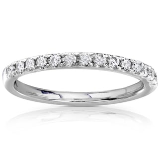 Annello by Kobelli 14k Gold 1/3ct TDW Round Diamond Wedding Band