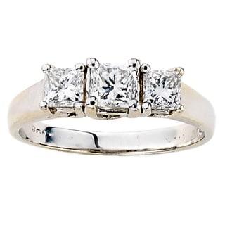 Neda Behnam 14k White Gold 7/8ct TDW Princess Cut Ring