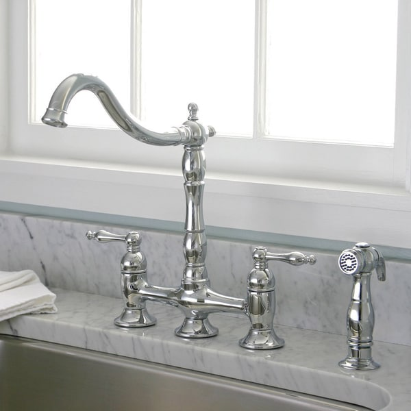 charelstown bridge style 2 handle chrome kitchen faucet plados oldstyle metal kitchen faucet