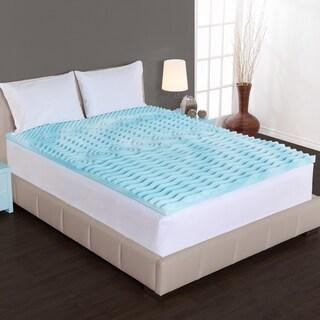 Authentic Comfort 2-inch Comfort Rx 5-zone Foam Mattress Topper