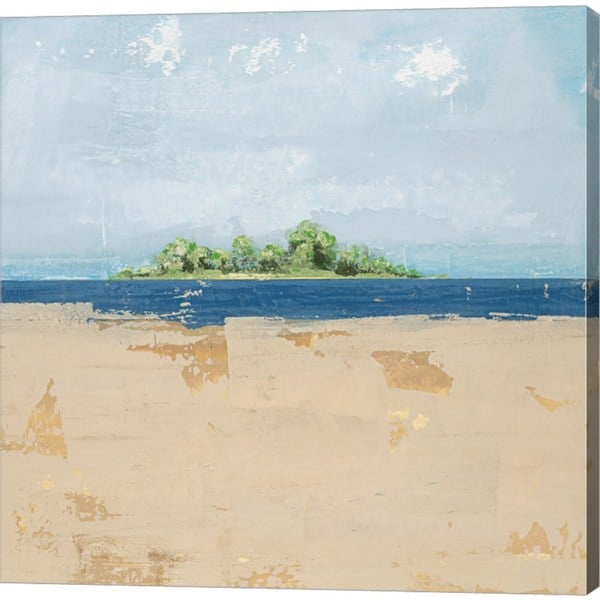 David Dauncey 'Peaceful Beach 2' Gallery-wrapped Canvas Art