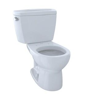 Toto Drake Two-Piece Round 1.6 GPF Toilet CST743S#01 Cotton White
