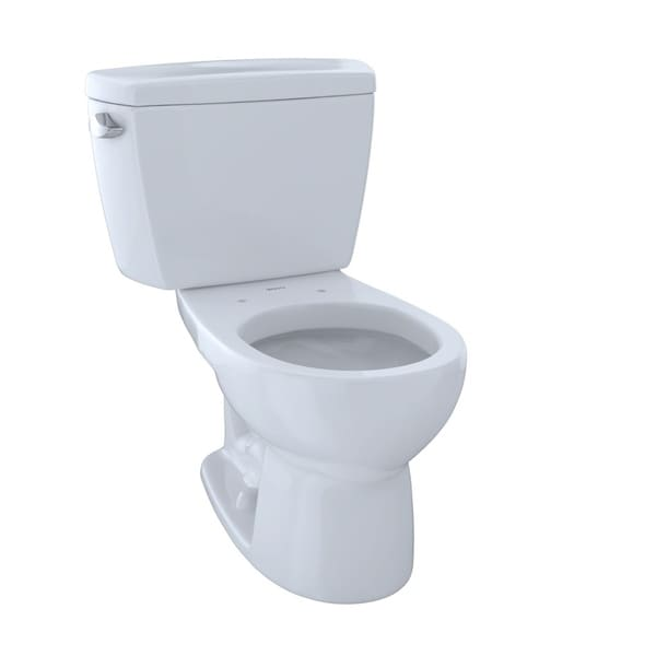Toto Drake Two Piece Round 1 6 Gpf Toilet Cst743s 01 Cotton White