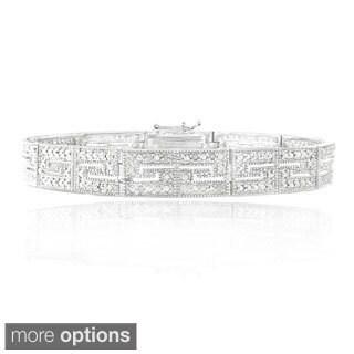 DB Designs 1 2ct TDW Diamond Greek Key Tennis Bracelet