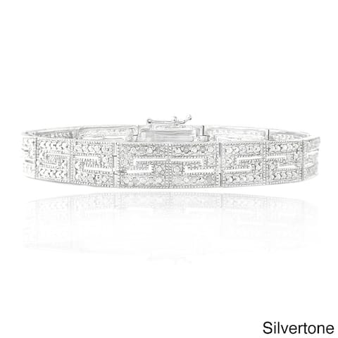 DB Designs 1/2ct TDW Diamond Greek Key Tennis Bracelet