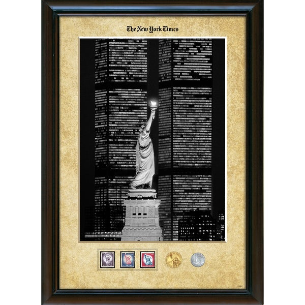 American Coin Treasures New York Times Liberty and the World Trade Center Framed Stamp and Coin Coll