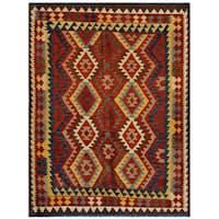 Handmade Herat Oriental Afghan Wool Kilim  - 5' x 6'5 (Afghanistan)