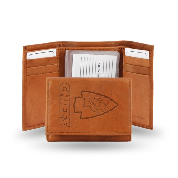 Kansas City Chiefs Leather Embossed Tri-fold Wallet