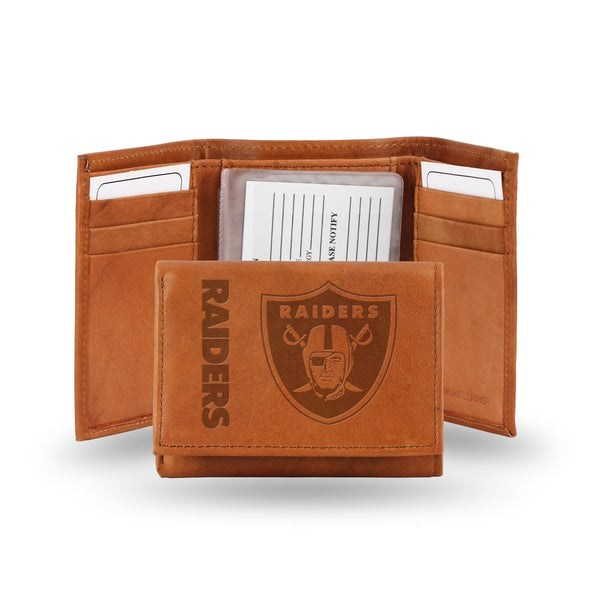 NFL Oakland Raiders Leather Embossed Tri-fold Wallet