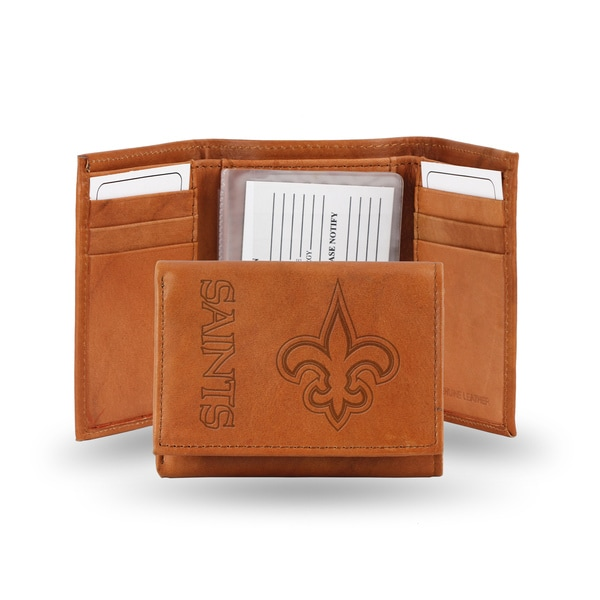 NFL New Orleans Saints Leather Embossed Tri-fold Wallet