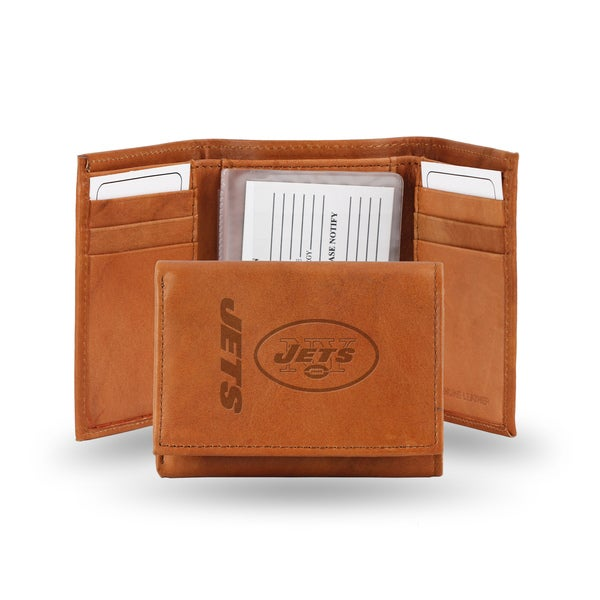 New York Jets Leather Embossed Tri-fold Wallet