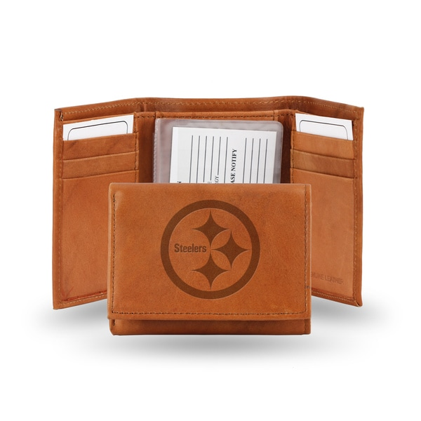 NFL Pittsburgh Steelers Leather Embossed Tri-fold Wallet