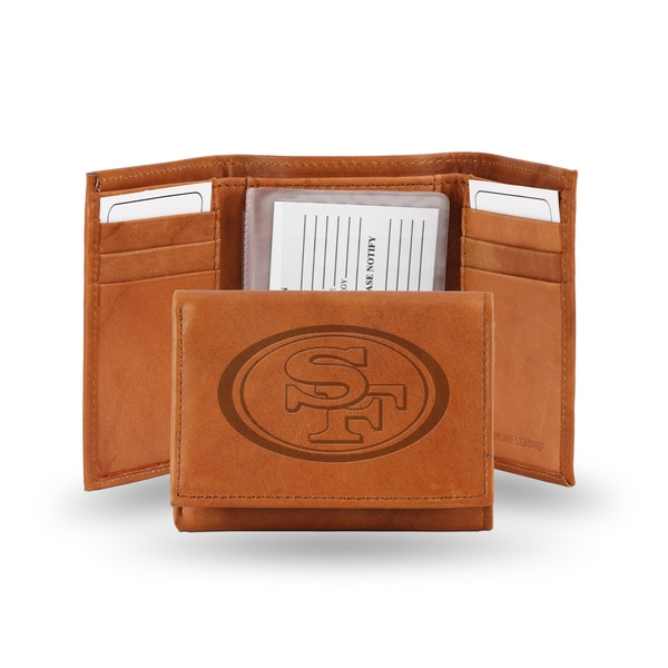 San Francisco 49ers Leather Embossed Tri-fold Wallet
