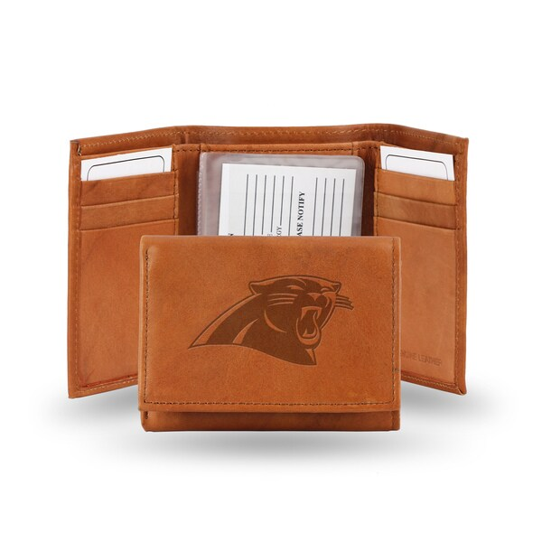 Carolina Panthers Leather Embossed Tri-fold Wallet