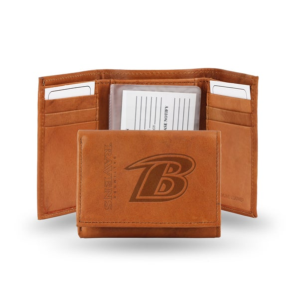 Baltimore Ravens Leather Embossed Tri-fold Wallet