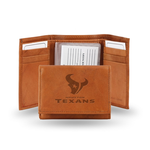 Houston Texans Leather Embossed Tri-fold Wallet