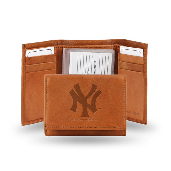 MLB New York Yankees Leather Embossed Tri-fold Wallet