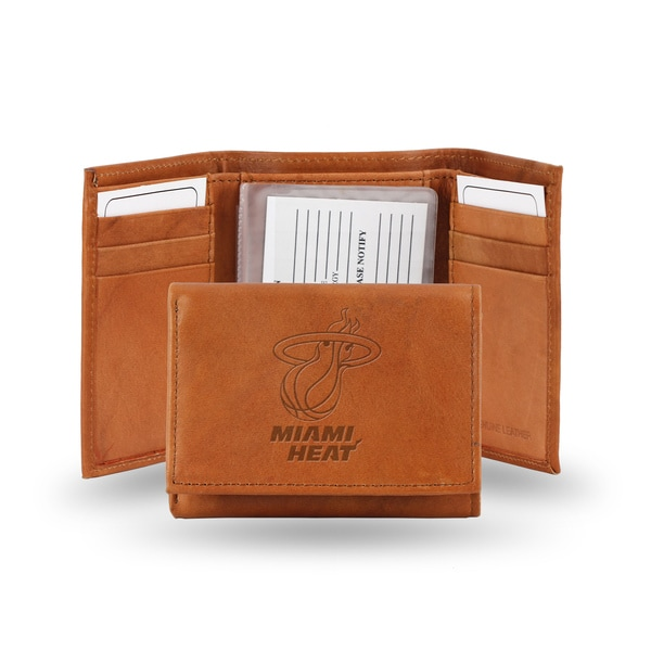 NBA Miami Heat Leather Embossed Tri-fold Wallet