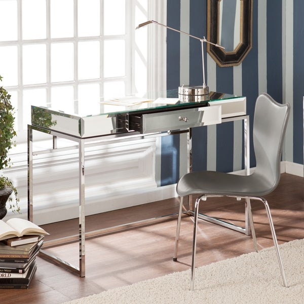 Harper Blvd Adelie Mirrored Writing Desk Free Shipping