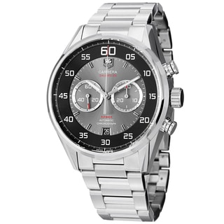 Tag Heuer Men's CAR2B10.BA0799 'Carrera' Black/Grey Dial Stainless Steel Chrono Watch