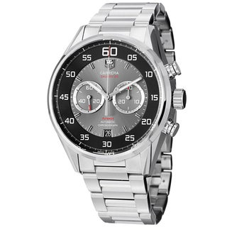 Tag Heuer Men's CAR2B10.BA0799 'Carrera' Black/Grey Dial Stainless Steel Chrono Watch