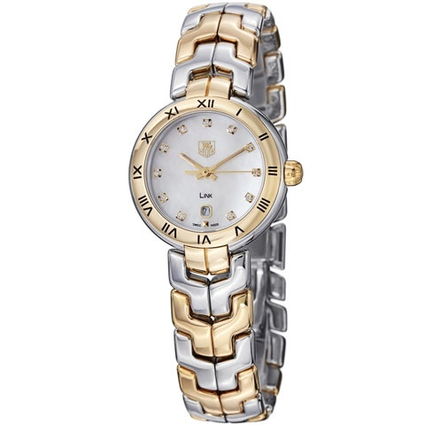 Tag Heuer Women's 'Link' Mother Of Pearl Dial Two Tone Watch