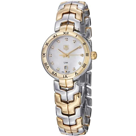 Tag Heuer Women's WAT1453.BB0955 'Link' 18kt yellow gold diamond Two-Tone Stainless Steel Watch