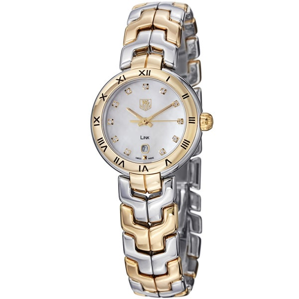 Tag Heuer Women's WAT1453.BB0955 'Link' 18kt yellow gold diamond Two-Tone Stainless Steel Watch. Opens flyout.