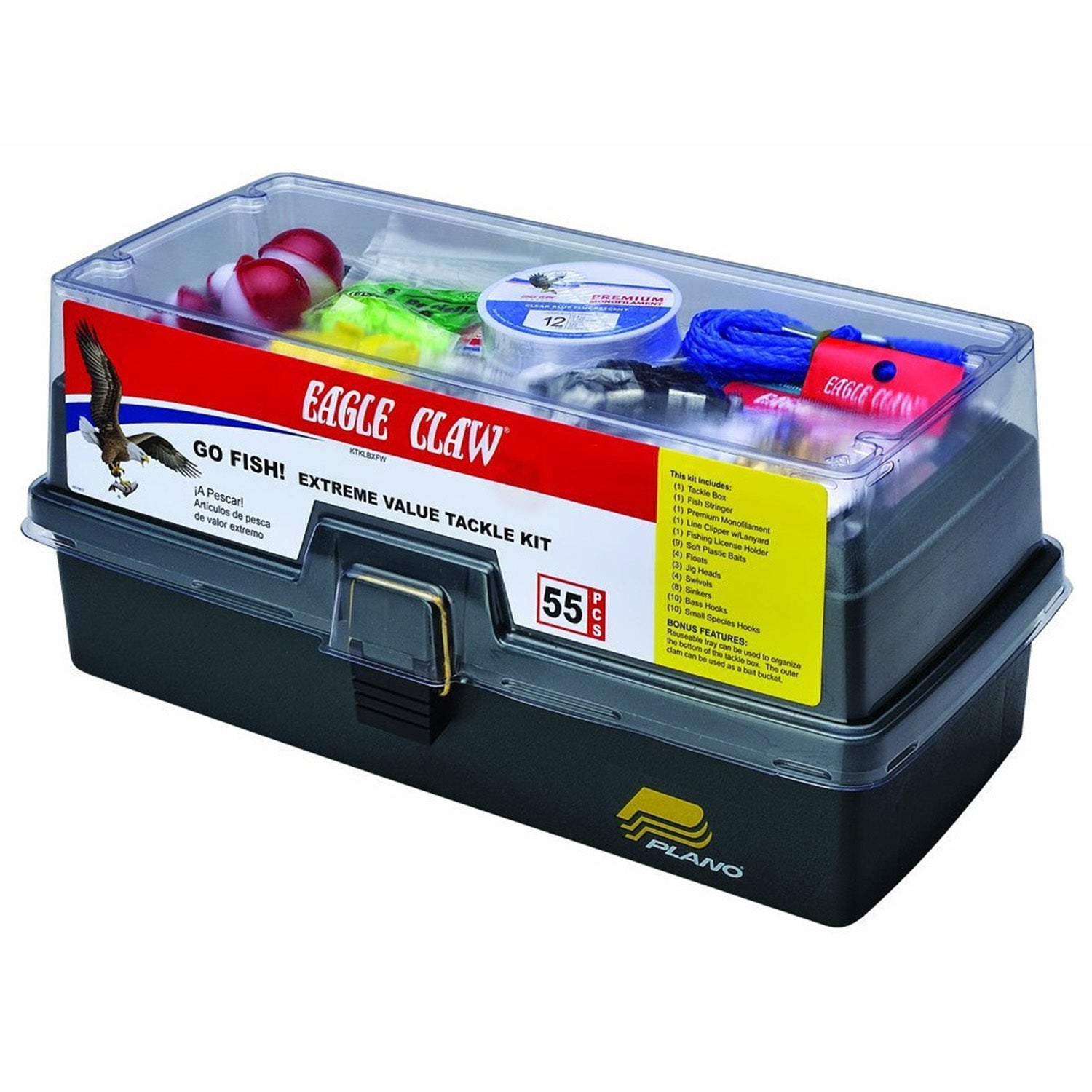 Eagle Claw Go Fish Extreme Tackle Box Kit (Go Fish Extrem...