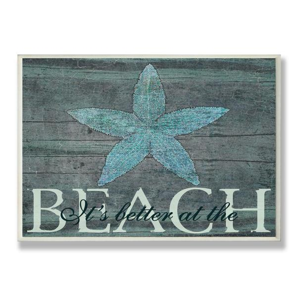 The Curated Nomad Biltmore It's Better at the Beach Starfish' Wall Plaque