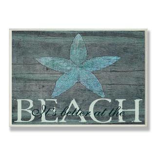 Marilu Windvand 'It's Better at the Beach Starfish' Wall Plaque - Thumbnail 0
