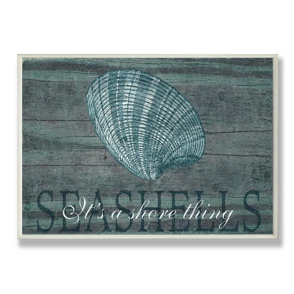 Marilu Windvand 'Seashells It's a Shore Thing' Wall Plaque