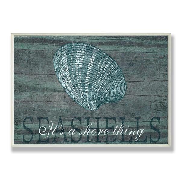 Porch & Den Arborcrest Seashells Wall Plaque