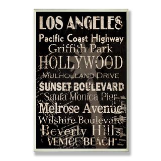 Grace Pullen 'Los Angeles Cities and Words' Typography Wall Plaque
