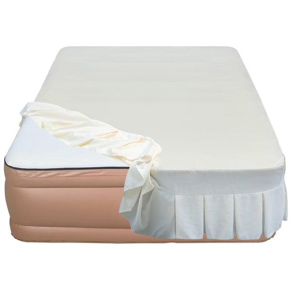 Shop Airtek Raised 22 Inch Queen Size Memory Foam Airbed