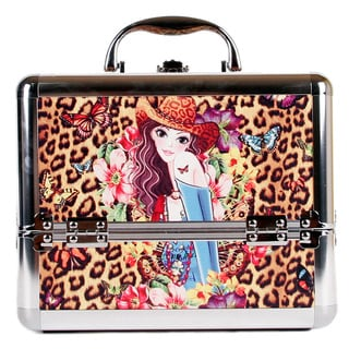 Nicole Lee Sandra Priscilla Travel Cosmetic Case with Mirror