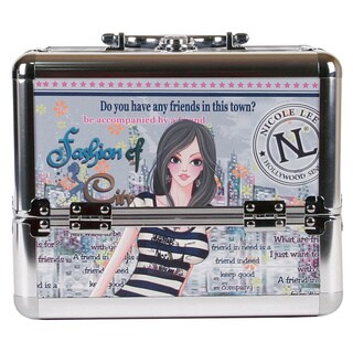 Nicole Lee Dolly Priscilla Travel Cosmetic Case with Mirror