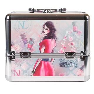 Nicole Lee Daisy Priscilla Travel Cosmetic Case with Mirror