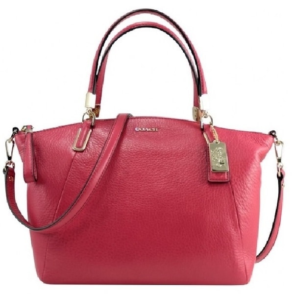 Coach Madison Kelsey Small Pink Scarlet Leather Satchel