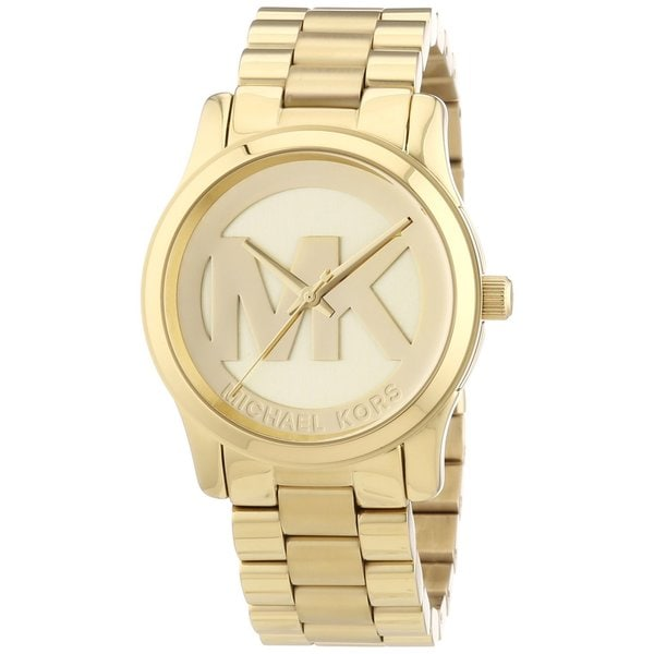 131cf599b769 Shop Michael Kors Women s MK5786 Runway Goldtone Watch - Free ...