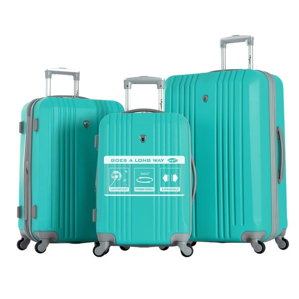Olympia 'Corsair' 3-piece Hardside Spinner Luggage Set