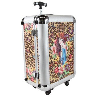 Nicole Lee Priscilla Cowgirl Aluminium 21-inch Hardside Carry-on Spinner Upright