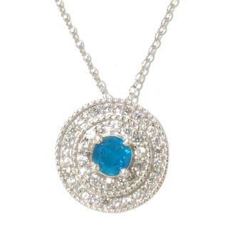 Sterling Silver White Zircon and Blue Apatite Pendant https://ak1.ostkcdn.com/images/products/8830199/Sterling-Silver-White-Zircon-and-Blue-Apatite-Pendant-P16061833.jpg?impolicy=medium