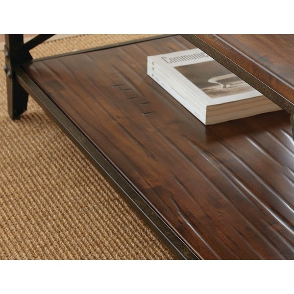 Windham Solid Birch And Iron Rustic Coffee Table By Greyson Living   Free  Shipping Today   Overstock.com   16061887