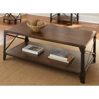 Windham Solid Birch and Iron Rustic Coffee Table by Greyson Living