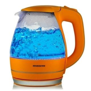 Ovente KG83O Orange 1.5-liter Glass Electric Kettle
