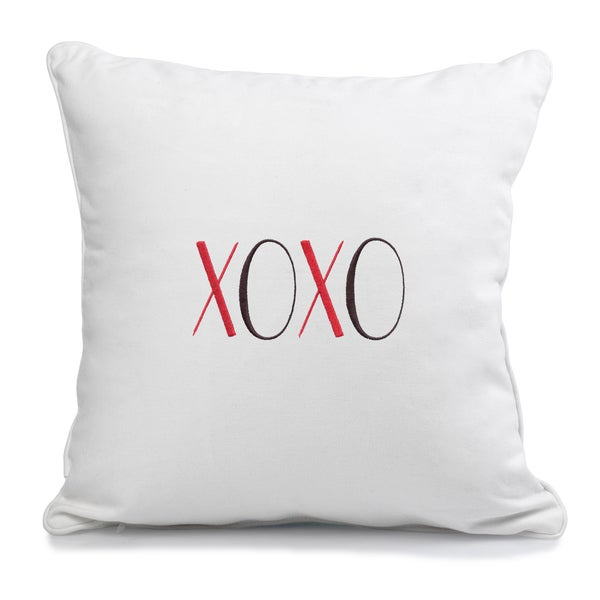 xoxo furniture shabby chic xoxo throw pillow shop free shipping today overstockcom 8830336