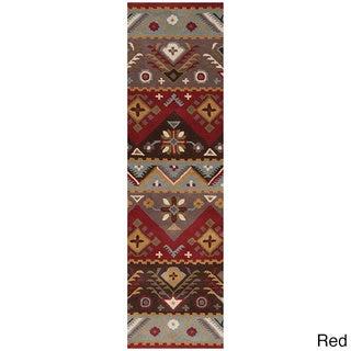 Hand Tufted Plumas Transitional Southwestern/Tribal Wool Aztec Area Rug (2'6 x 8')