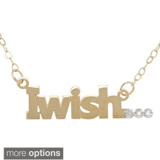 "Amanda Marmer Sterling Silver ""I Wish"" Diamond Accent Necklace"